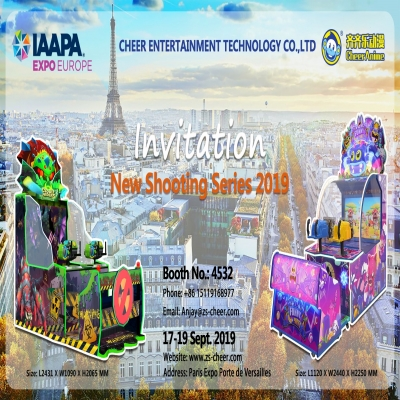 Invitation you to IAAPA EXPO EUROPE 2019- Paris,France